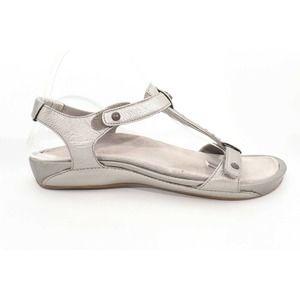 SOLD Aetrex Sandalistas Sandals Pewter42 ( )6240